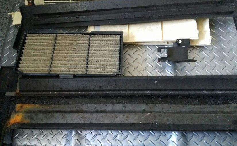 ダイキンの天井埋め込み型エアコン1方向