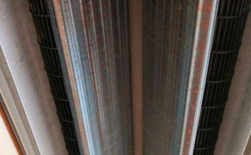 天井埋め込みエアコン2方向のエアコンクリーニング