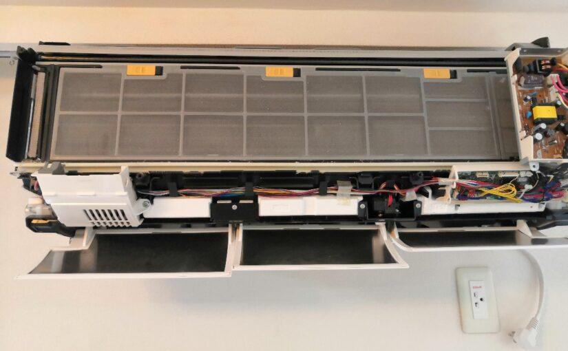 日立RAS-X40F2のエアコンクリーニング